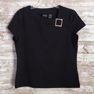 New York & Company Women's Black Blouse Size Large